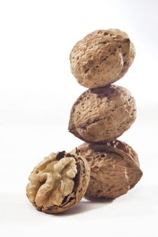 Walnut Peel Royalty Free Stock Image