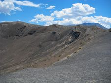 Ubehebe Crater, Death Valley NP Stock Images