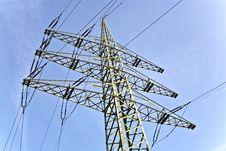 Electrical Tower With Sky Stock Images