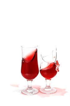 Free Two Glass With Wine Royalty Free Stock Photography - 17302927