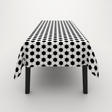 Free Table Covered With A Cloth Stock Photography - 17303312