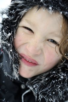 Free Boy In Arctic Climate Royalty Free Stock Image - 17303486