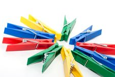 Free Colored Clothespin Stock Photography - 17303512