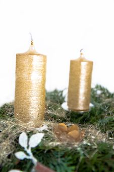 Free Advent Wreath Royalty Free Stock Photography - 17303617