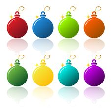 Free Christmas Balls Royalty Free Stock Photo - 17303915