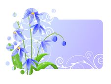 Free Light Blue Frame With Spring Flower Stock Photography - 17303952
