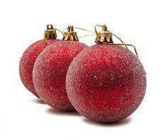 Free Christmas Ball On White Background Royalty Free Stock Photo - 17304235