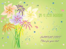 Free Eps10 Fantasy Flowers Royalty Free Stock Image - 17304426
