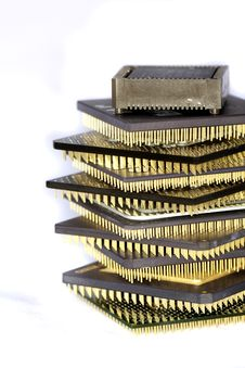 Free Computer Microprocessors Royalty Free Stock Photo - 17304595
