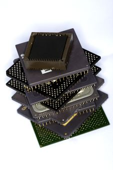 Free Computer Microprocessors Royalty Free Stock Photos - 17304608