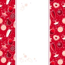 Christmas Background With Contour Balls Royalty Free Stock Photography