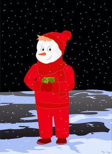 Free Snowman Royalty Free Stock Image - 17304686