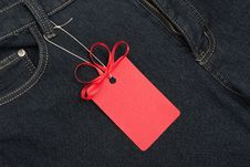 Red Price Tag Royalty Free Stock Photo