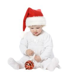 Free Cute Baby In Santa S Hat Stock Photo - 17304730