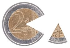 Free Coin 2€ With A Remoted Sector Royalty Free Stock Photo - 17305035