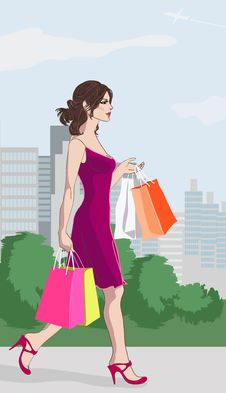 Free Shopping_girl_day Stock Images - 17305714