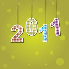 New Years Card 2011 . Vector Illustration Stock Photo