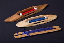 Free Hand Weaving Shuttles And Bobbins Royalty Free Stock Image - 17305866