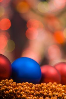 Colored Decoration For Christmas Royalty Free Stock Photos