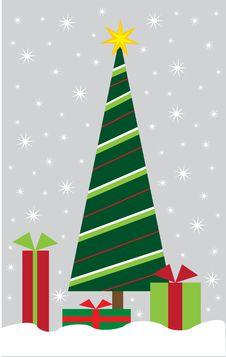 Free Merry Christmas Tree Royalty Free Stock Photos - 17306288