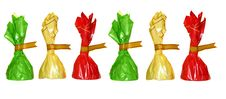 Chocolates In Colorful Wrappers, Royalty Free Stock Photography