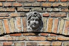Lady Face On Building Royalty Free Stock Photo