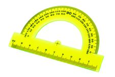 Free Yellow Transparent Protractor Royalty Free Stock Photos - 17306778