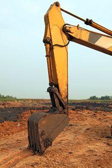 Free Part Of Excavator Loader Backhoe Stock Image - 17306811