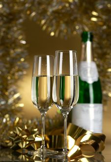 Free Wine. Champagne Stock Image - 17306871