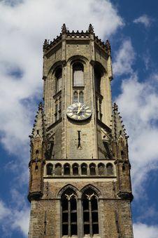 Brugge Belfort Tower Top View Stock Photos