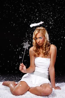 Free Sulky Angel Stock Image - 17307341