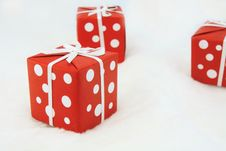 Free Red Wrapped Gift Royalty Free Stock Photo - 17307595