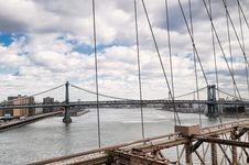 Free New York City Brooklyn Bridge Stock Image - 17307641