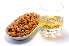 Free Fried Corn With Whisky Royalty Free Stock Photography - 17307917