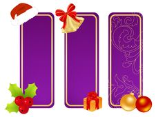 Three Christmas Tablets Royalty Free Stock Photo