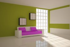 Green Interior Composition Stock Image