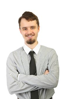 Portrait Of Young Smiling Businessman Royalty Free Stock Photos