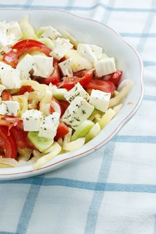 Free Salad With Feta Cheese, Tomato And Corn Stock Photo - 17308780