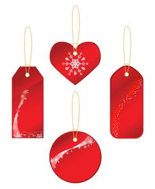 Free Red Labels With A Winter Theme Stock Photo - 17309020