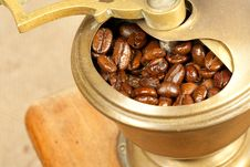 Free Coffee Beans In The Coffee Grinder Stock Photos - 17309253