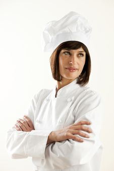 Free Confident Female Chef Royalty Free Stock Images - 17309909