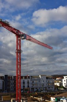 High Tower Crane Royalty Free Stock Photo