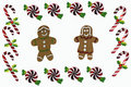 Free Gingerbread And Christmas Candy Border Stock Images - 17311494