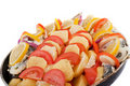 Free Haarder Stuffed Baked With Potatoes And Tomatoes Royalty Free Stock Image - 17315856