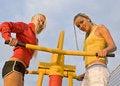 Free Girls On Sport Playground Stock Photos - 17318683