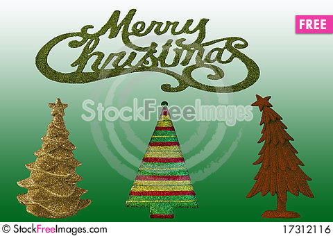 Free Assorted Christmas Trees Royalty Free Stock Image - 17312116