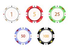 Free Gambling Chips,  Illustration Royalty Free Stock Images - 17310349