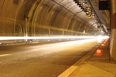 Free Highway Tunnel Ny Night Stock Photos - 17310713