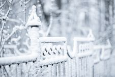 Free Winter Fence Stock Photos - 17310903