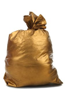 Free Gold Bag Isolated Royalty Free Stock Photography - 17311007